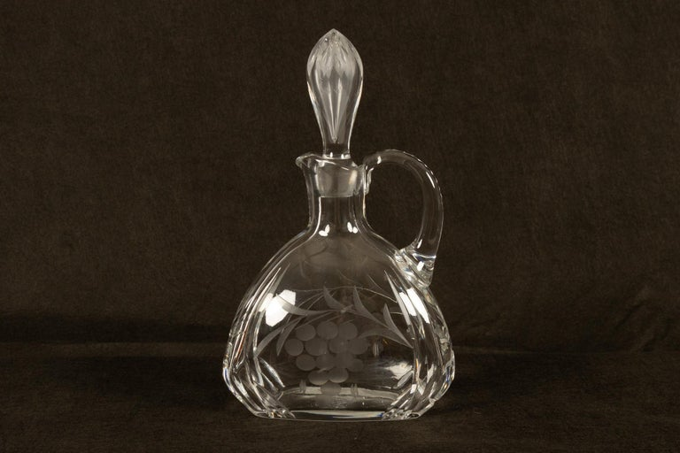 Set of 4 Crystal Decanters, Mid-20th Century For Sale 4