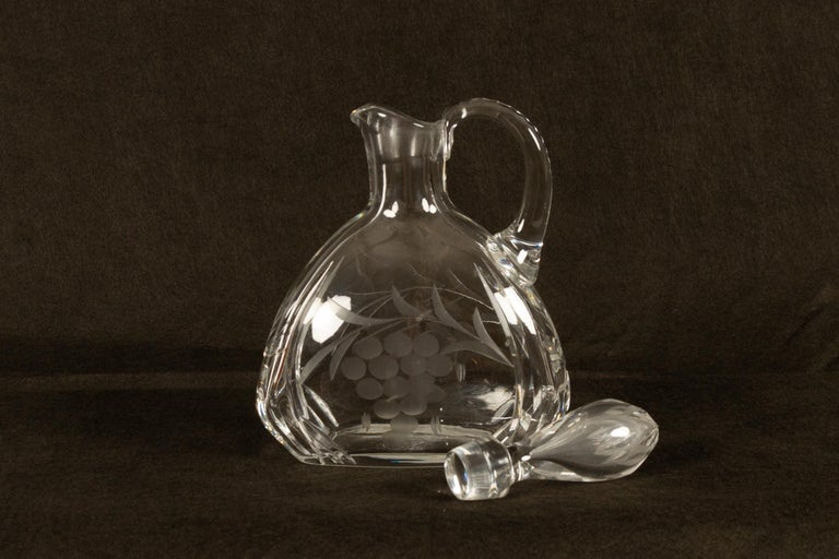 Set of 4 Crystal Decanters, Mid-20th Century For Sale 5