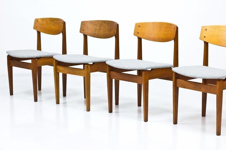 Scandinavian Modern Set of 4 Danish Chairs by Jørgen Baekmark for FDB, 1950s