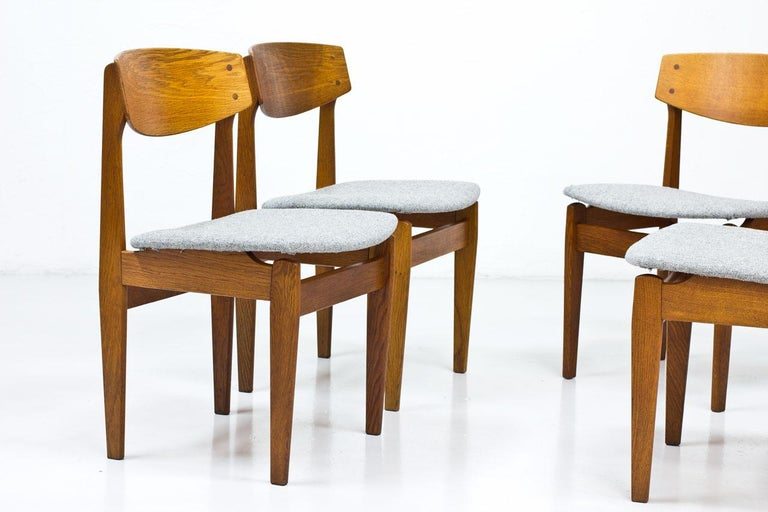 Set of 4 Danish Chairs by Jørgen Baekmark for FDB, 1950s In Good Condition In Stockholm, SE