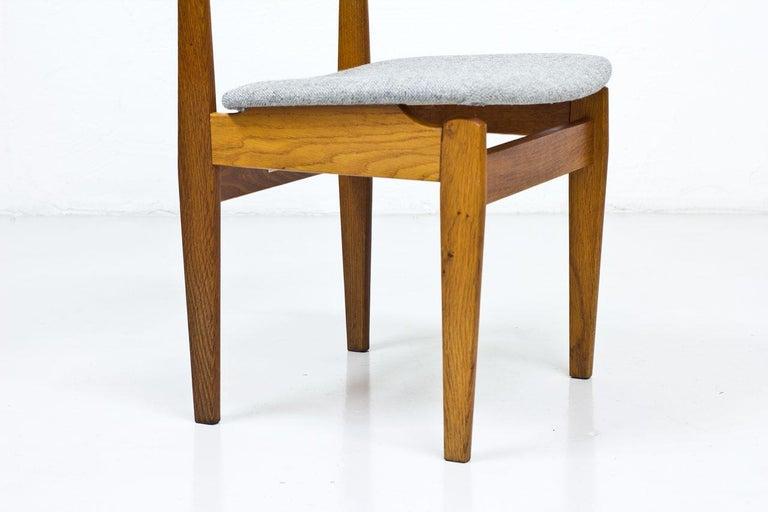 Mid-20th Century Set of 4 Danish Chairs by Jørgen Baekmark for FDB, 1950s