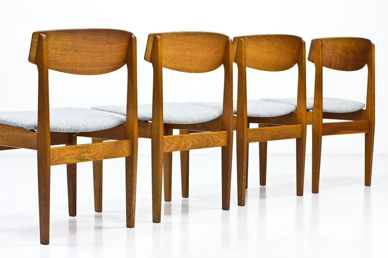 Wool Set of 4 Danish Chairs by Jørgen Baekmark for FDB, 1950s