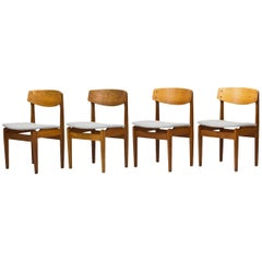 Set of 4 Danish Chairs by Jørgen Baekmark for FDB, 1950s