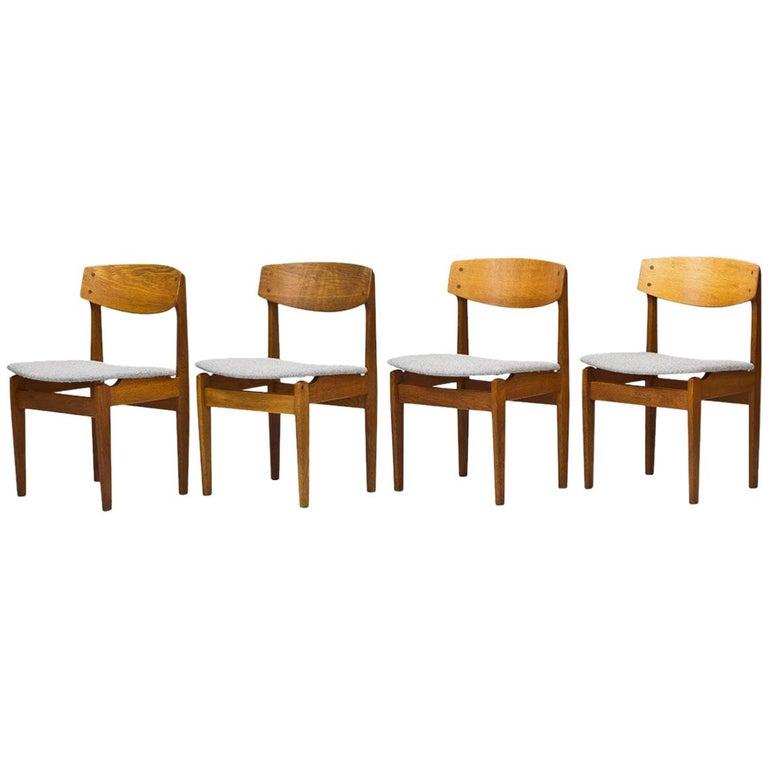 Set of 4 Danish Chairs by Jørgen Baekmark for FDB, 1950s