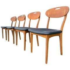 Set of 4 Danish Dining Chairs by Svend Age Madsen for K. Knudsen & Son