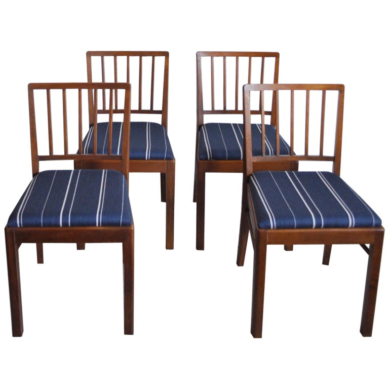 Set of 4 Danish Dining Chairs in the Style of Jacob Kjær, 1940s For Sale