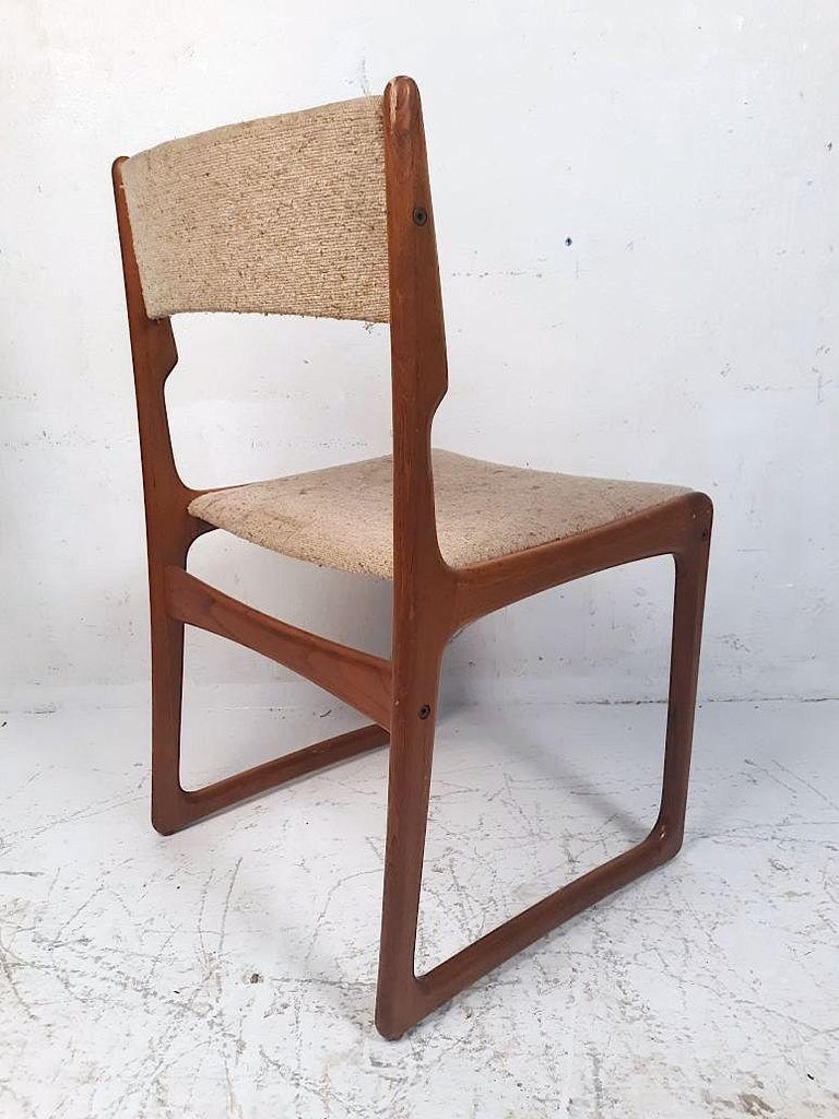 20th Century Set of 4 Danish Modern Dining Chairs For Sale