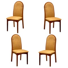 Set of 4 Danish Modern Tall Back Dinning Chairs