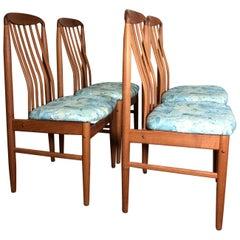 Set of 4 Danish Modern Teak Chairs by Benny Linden