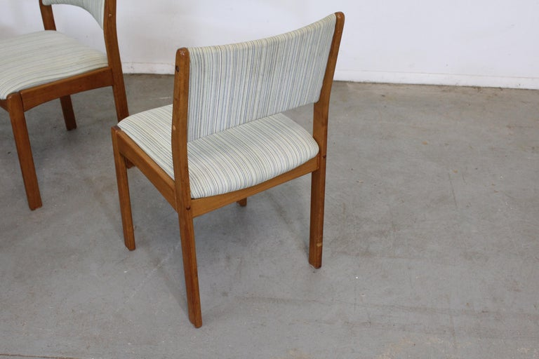Unknown Set of 4 Danish Modern Teak Side Dining Chairs For Sale