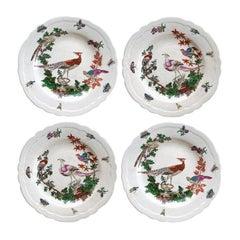 Set of 4 Decorative Hanging Bird Plates by JUWC, 1897