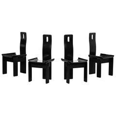Set of 4 Design Chairs, Vico Magistretti Style