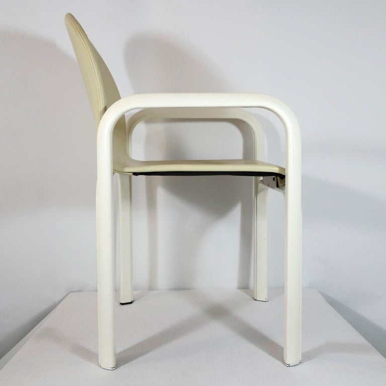 Set of 4 Dining Chairs Orsay Designed by Gae Aulenti for Knoll International For Sale 6