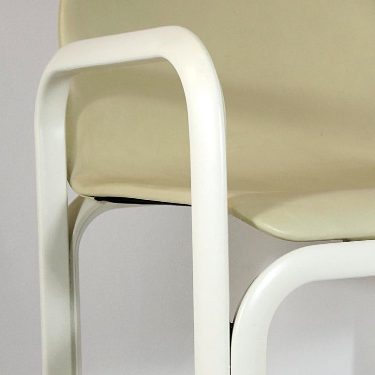 Set of 4 Dining Chairs Orsay Designed by Gae Aulenti for Knoll International For Sale 8
