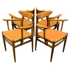 Set of 4 Dining Armchairs from France