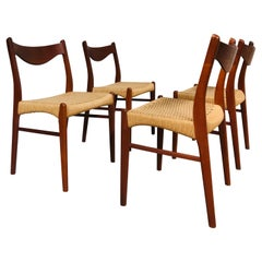 Set of 4 Dining Chairs by Arne Wahl Iversen for Glyngøre Stolefabrik, Danish