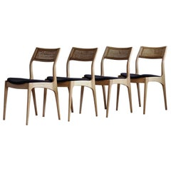 Set of 4 Dining Chairs by Edmund Homa, Midcentury, Reupholstered in Kvadrat