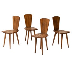 Set of 4 Dining Chairs by Franciszek Aplewicz, Poland, 1960s