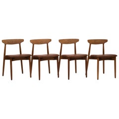 Set of 4 Dining Chairs by Harry Østergaard, Denmark, 1950s