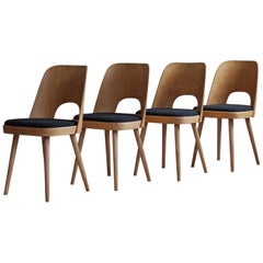 Set of 4 Dining Chairs by Oswald Haerdtl, Reupholstered, Midcentury