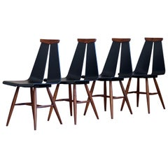 Set of 4 Dining Chairs by Risto Halme for Isku, Finland, 1960s