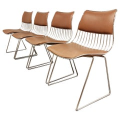 Set of 4 Dining Chairs by Rudi Verelst for Novalux, 1970s