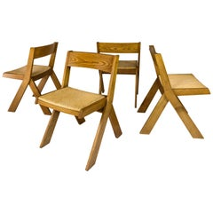 Set of 4 Dining Chairs, circa 1960, France