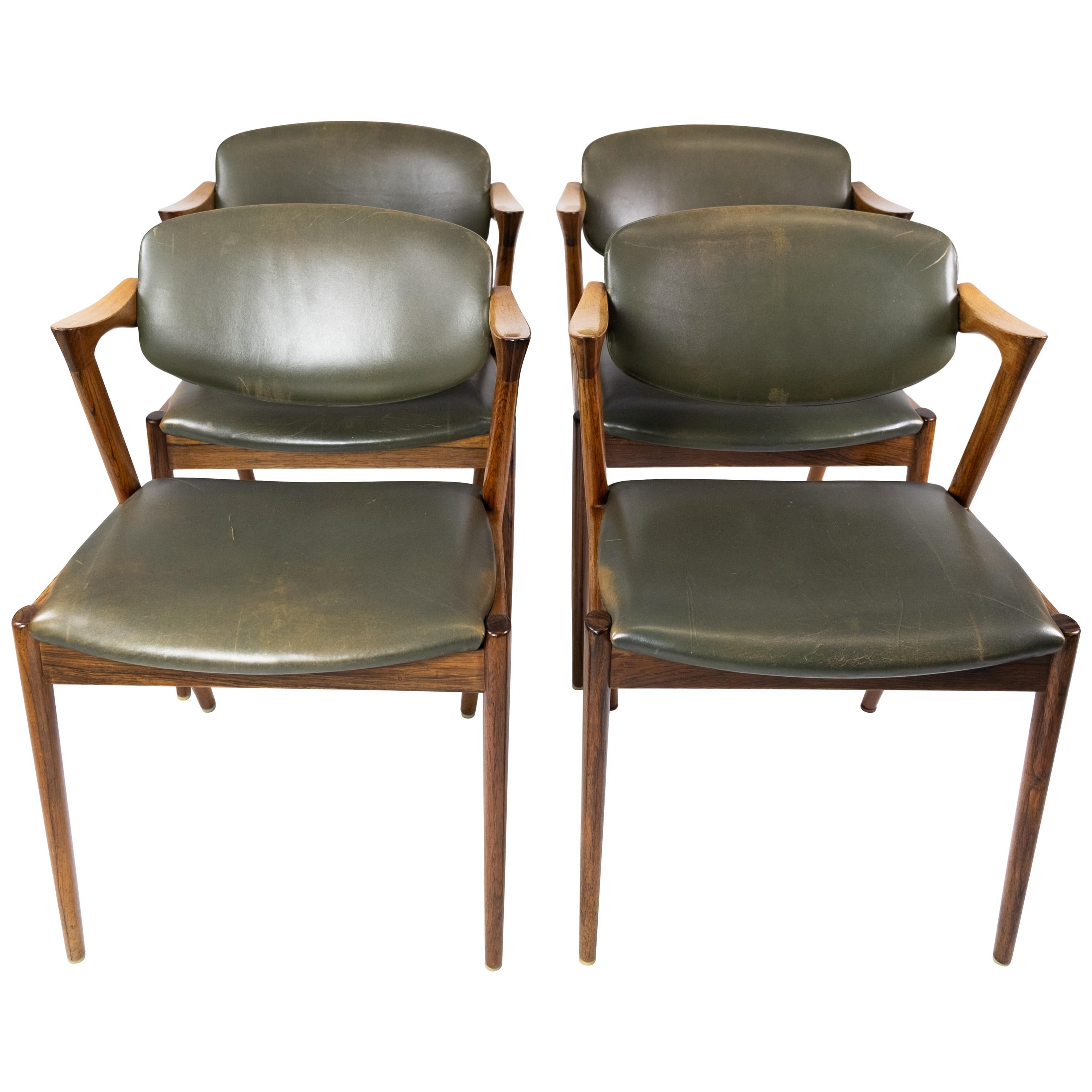 Set of 4 Dining Chairs, Model 42, Designed by Kai Kristiansen, 1960s