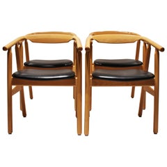 Set of 4 Dining Room Chairs, Model GE525, by Hans J. Wegner, 1960s