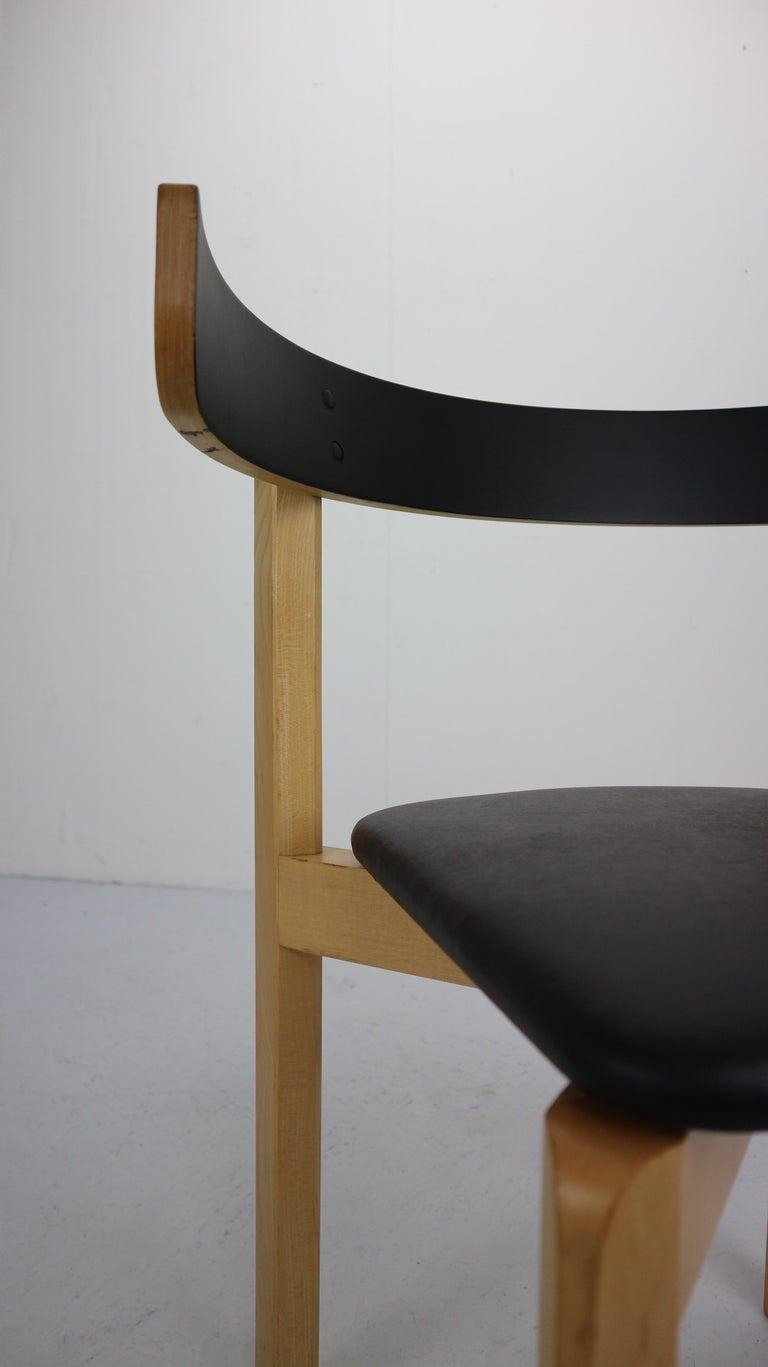 Set of 4 Dining Room Chairs by Jørgen Gammelgaard for Schiang Møbler, Denmark For Sale 10
