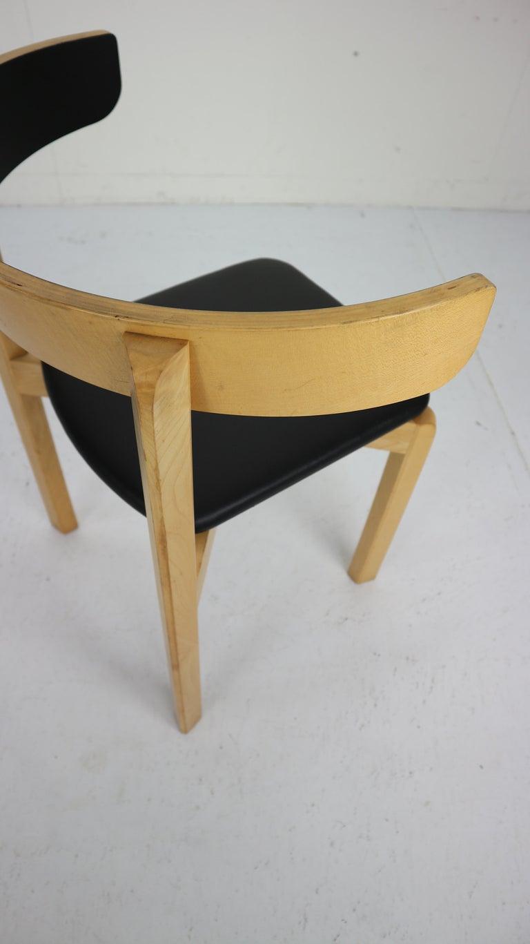 Set of 4 Dining Room Chairs by Jørgen Gammelgaard for Schiang Møbler, Denmark For Sale 11
