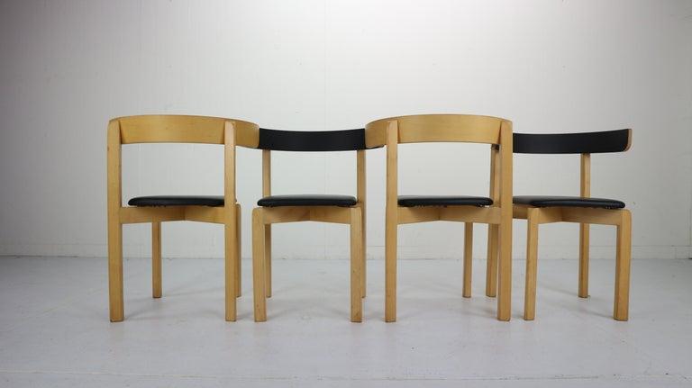 Danish Set of 4 Dining Room Chairs by Jørgen Gammelgaard for Schiang Møbler, Denmark For Sale