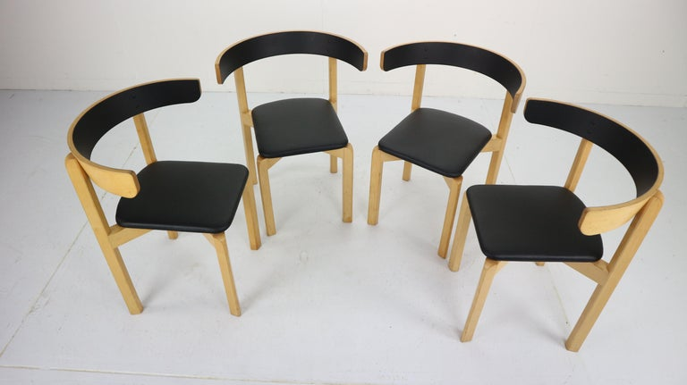 Late 20th Century Set of 4 Dining Room Chairs by Jørgen Gammelgaard for Schiang Møbler, Denmark For Sale