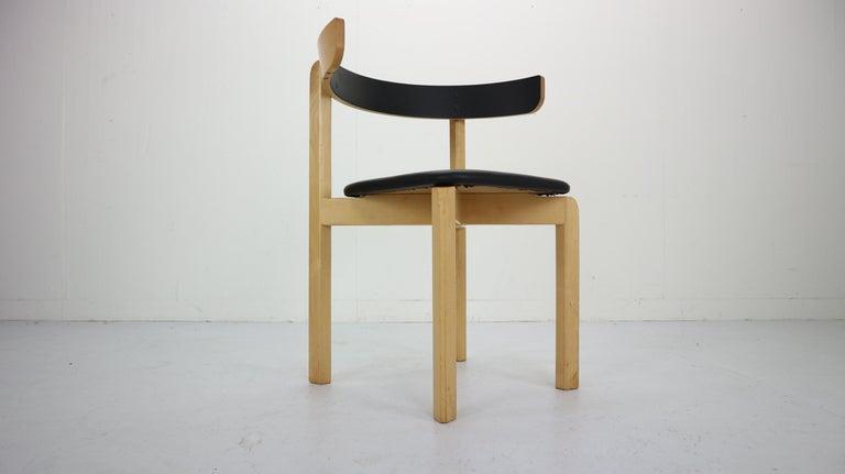 Set of 4 Dining Room Chairs by Jørgen Gammelgaard for Schiang Møbler, Denmark For Sale 1