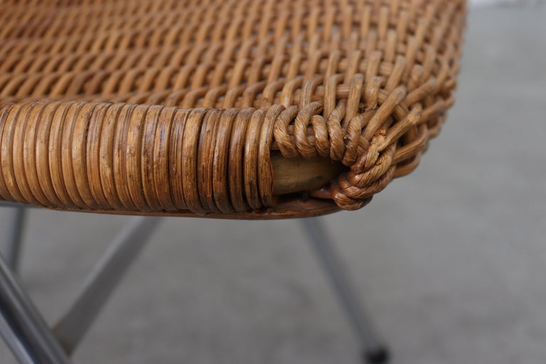Set of 4 Dirk van Sliedregt Rattan Dining Chairs For Sale 4