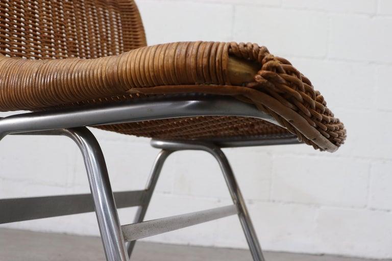 Set of 4 Dirk van Sliedregt Rattan Dining Chairs For Sale 5