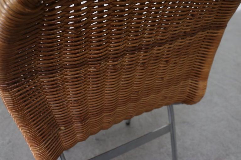 Set of 4 Dirk van Sliedregt Rattan Dining Chairs For Sale 7
