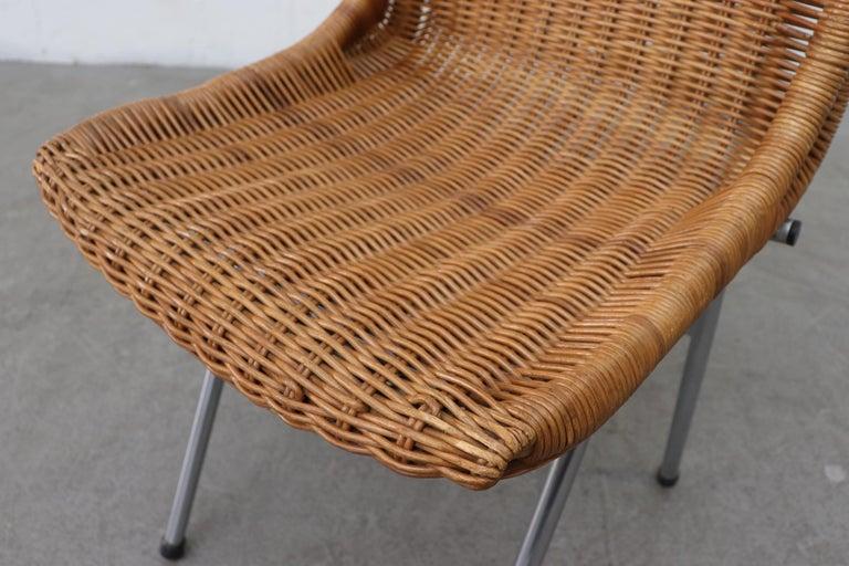 Set of 4 Dirk van Sliedregt Rattan Dining Chairs For Sale 1