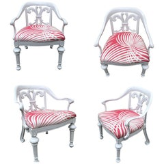 Set of 4 Dorothy Draper Rare Patio Chairs Made by Kessler