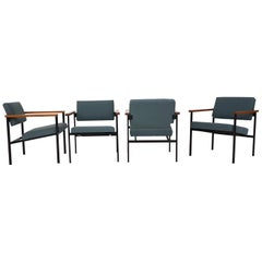 Set of 4 Dutch Modernist Lounge Chairs, the Netherlands, 1960s