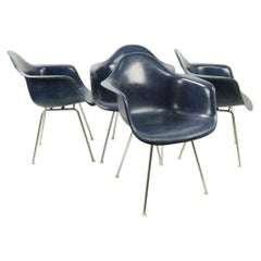 Set of 4 Eames Fiberglass Bucket Chairs