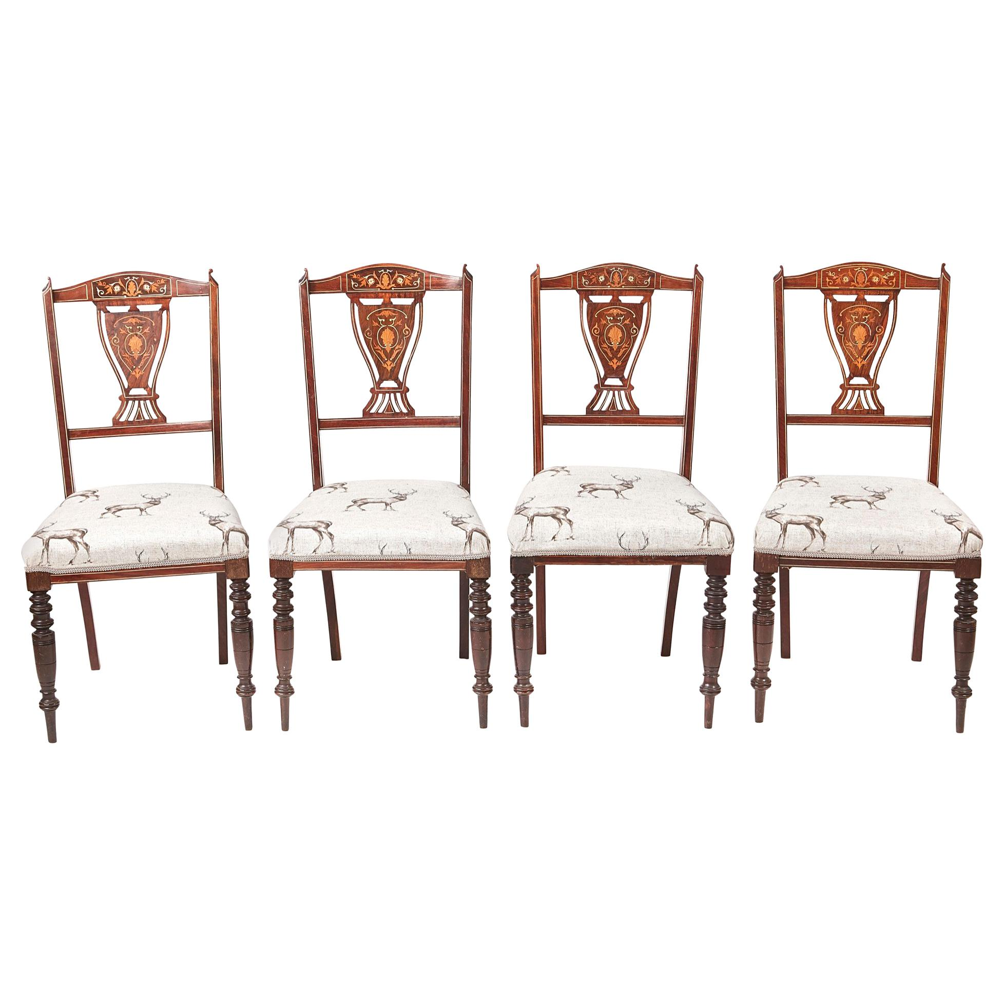 Chairs Antique Furniture 4 Edwardian Chairs