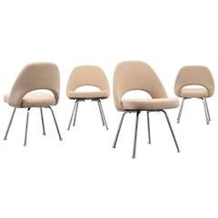 Set of 4 Eero Saarinen Armless Executive Chairs, USA, 1970