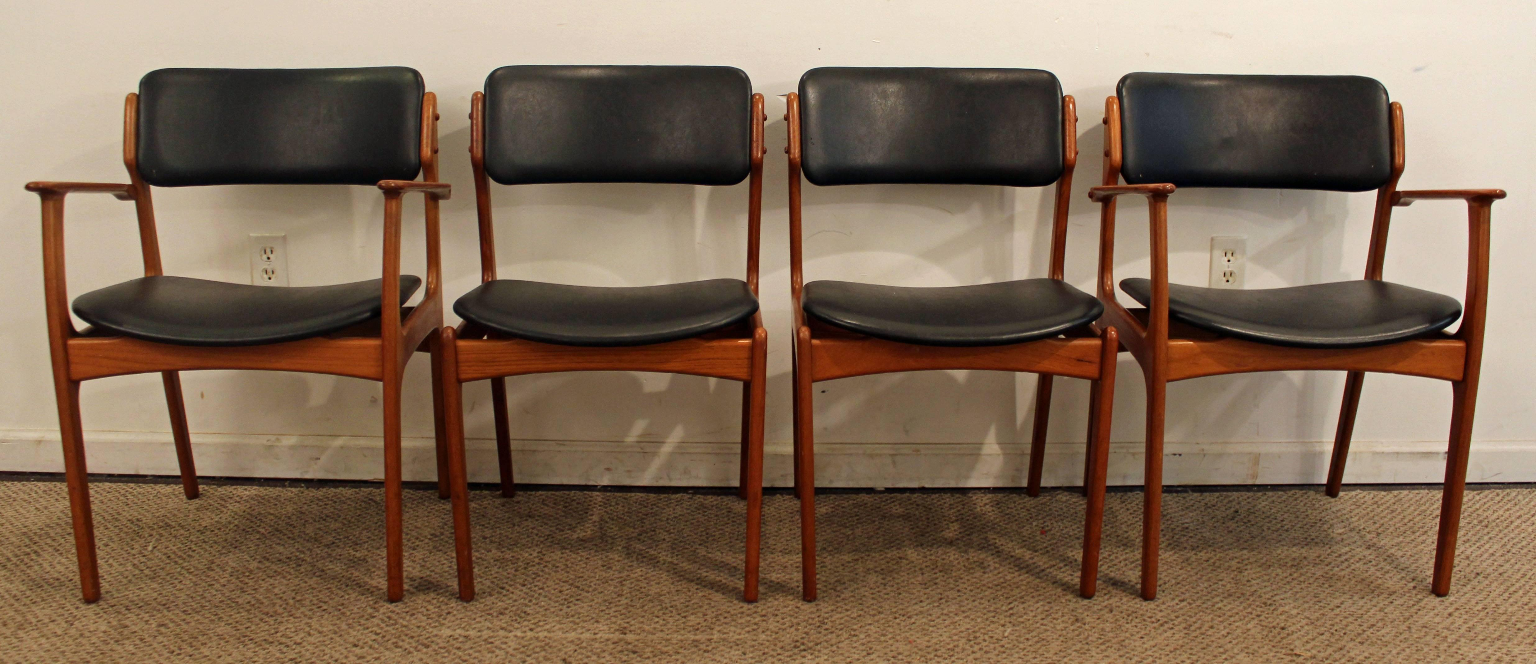 Set of Four Erik Buch for O D Mobler Teak Dining Chairs at 1stdibs