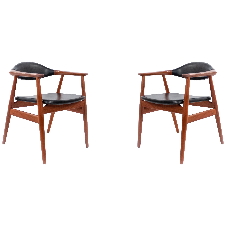 Set of 4 Erik Kirkegaard Teak Mid-Century Side Chairs