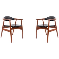 Set of 4 Erik Kirkegaard Teak Mid-Century Side Chairs
