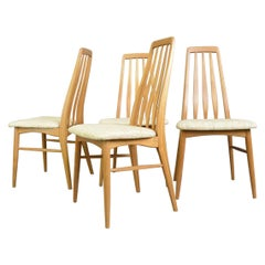 Set of 4 Eva Dining Chairs by Niels Koefoed for Koefoeds Hornslet, 1960s