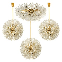 Set of 4 Fabulous Emil Stejnar Snowball Orbit Sputnik Light Fixtures, Austria