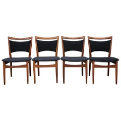 Set of 4 Finn Juhl for Soren Willadsen SW86 Dining Chairs