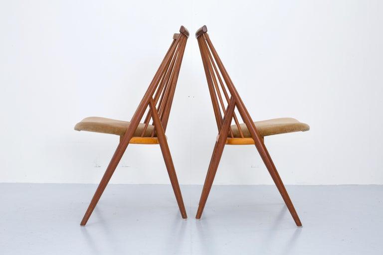 Swedish Set of 4 'Flamingo' Chairs by Thea Leonard for Nassjo Stolefrabrik, Sweden, 1960 For Sale